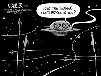 Editorial Cartoon: Traffic?