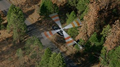 Aerial wildfire safety inspection