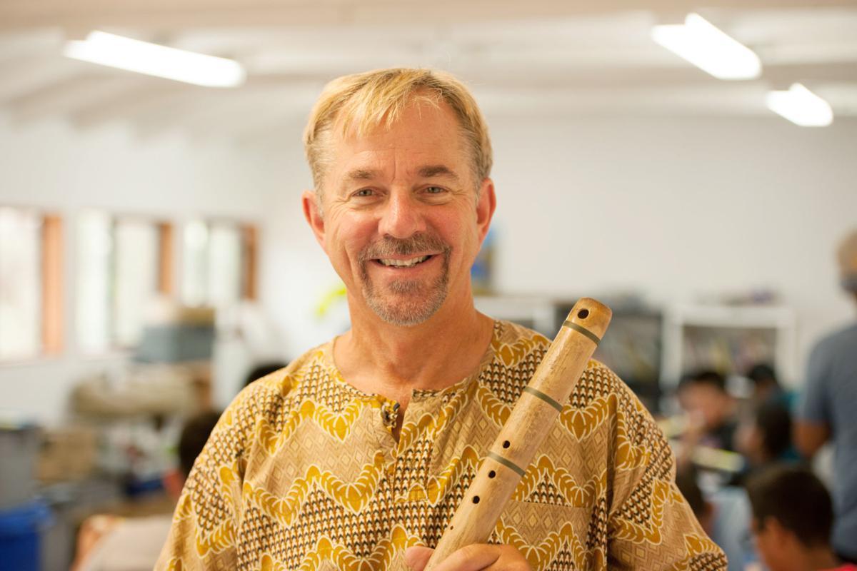 John Zeretzke with flute at Circle V