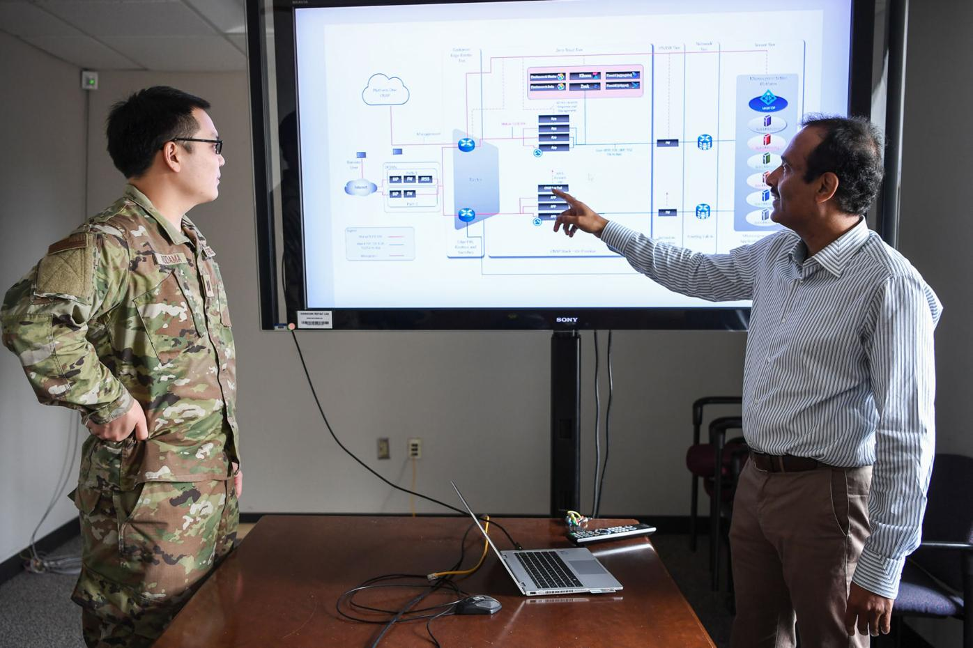 Raju Ranjan, an engineer from the AFNet Sustainment and Operations Branch