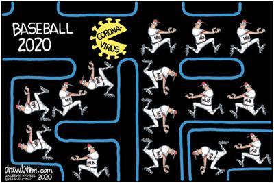 Editorial Cartoon: Baseball 2020