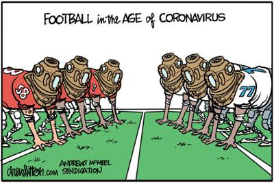 Editorial Cartoon: Football