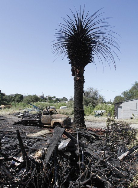 Former Japanese cultural center reduced to ashes