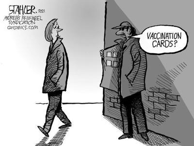 Editorial Cartoon: Fake cards