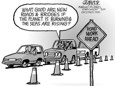 Editorial Cartoon: Road work ahead