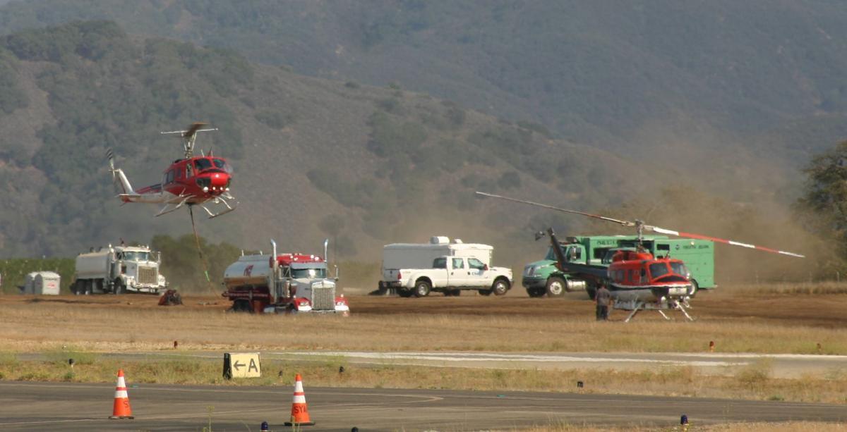 Helibase at Santa Ynez Valley Airport