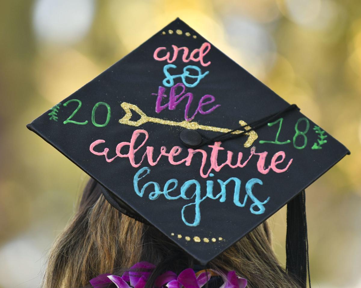 Photos: Hancock College graduates decorate caps