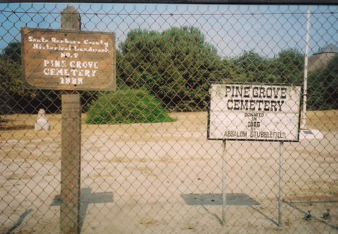 Pine Grove Cemetery designated as Santa Barbara County's Historical Landmark No. 9 in 1976