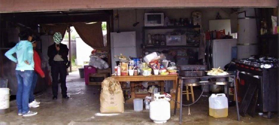 Illegal home kitchen