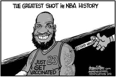 Editorial Cartoon: Greatest shot
