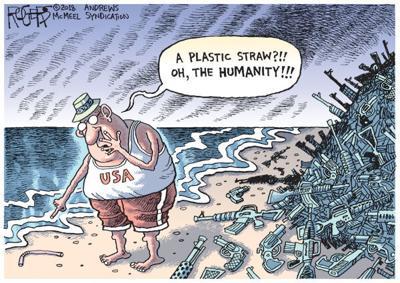 Cartoon: Plastic Straw