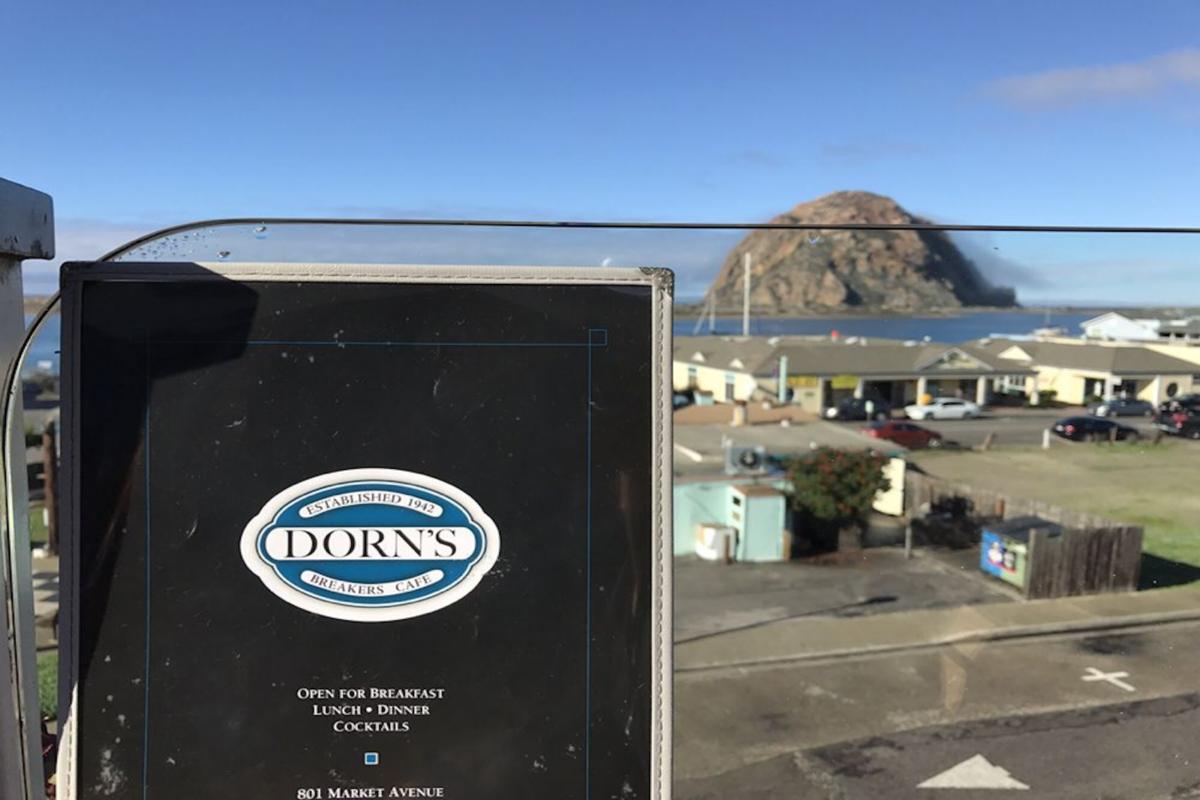 Enjoying a wonderful breakfast with a view of Morro Rock