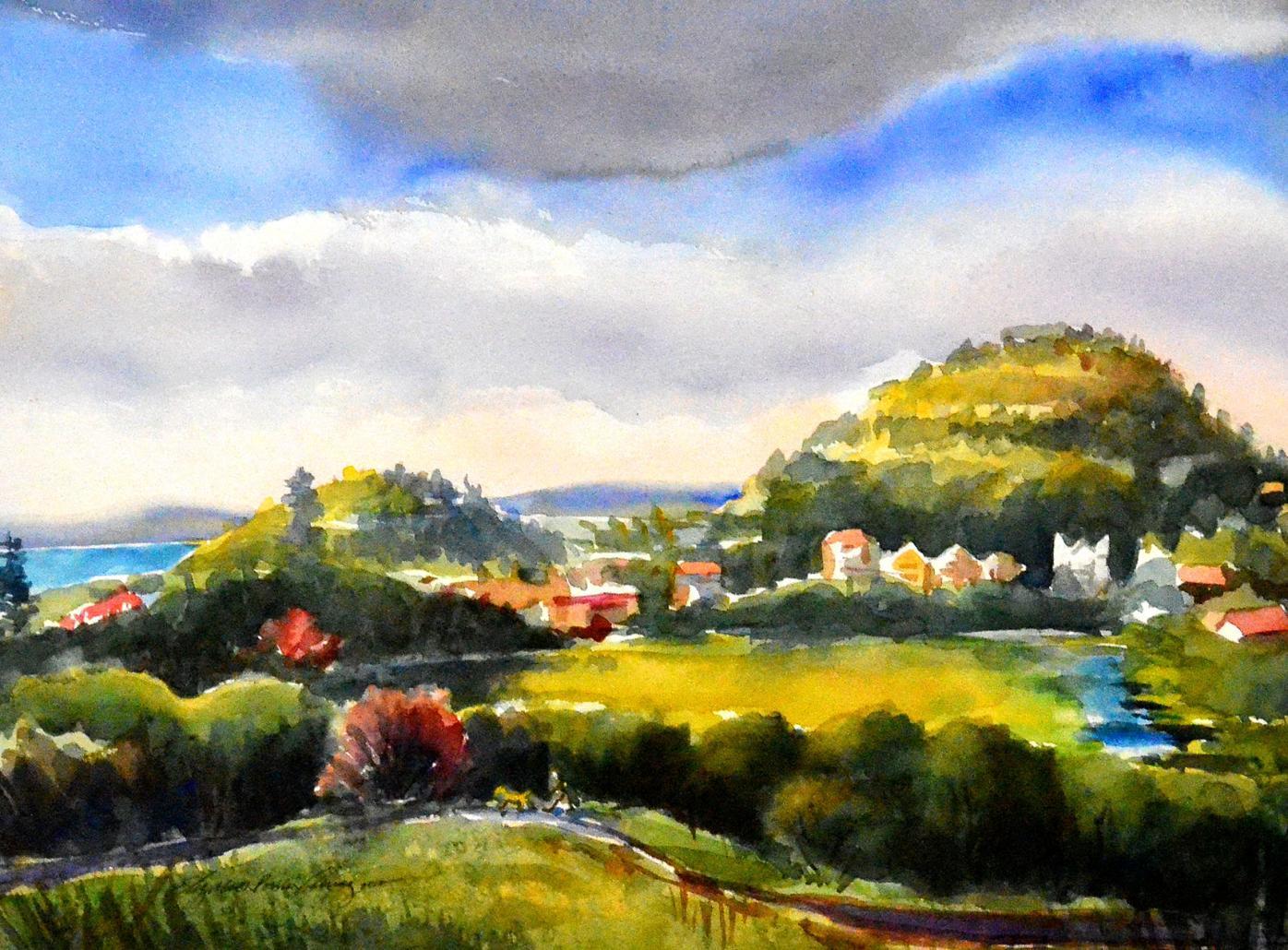Liz Poulin Alvarez, Watercolor Landscape