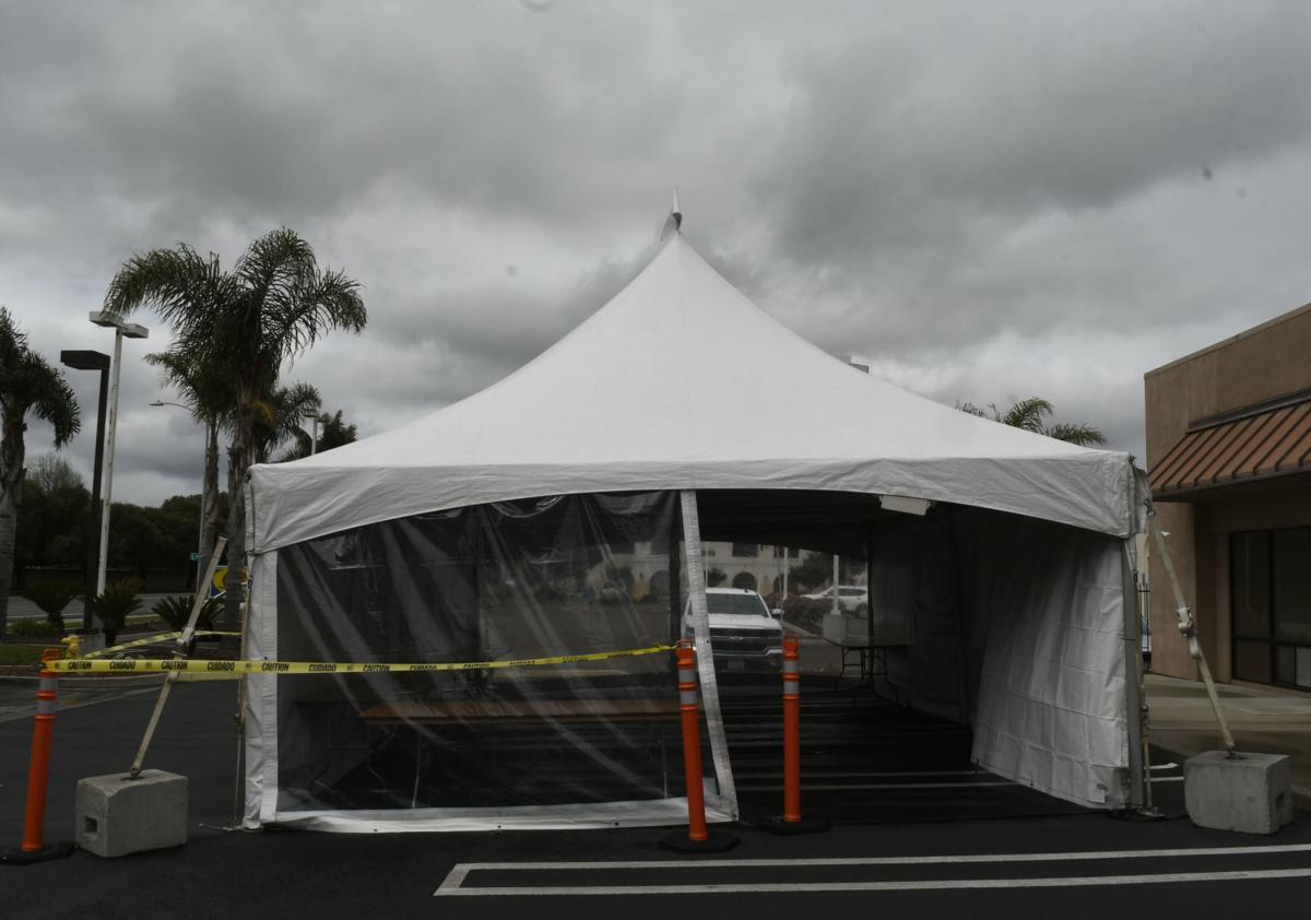 Lompoc Urgent Care triage tent