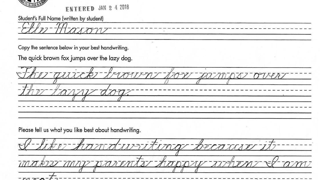 Santa Maria Fourth Grader Has Best Handwriting In Country