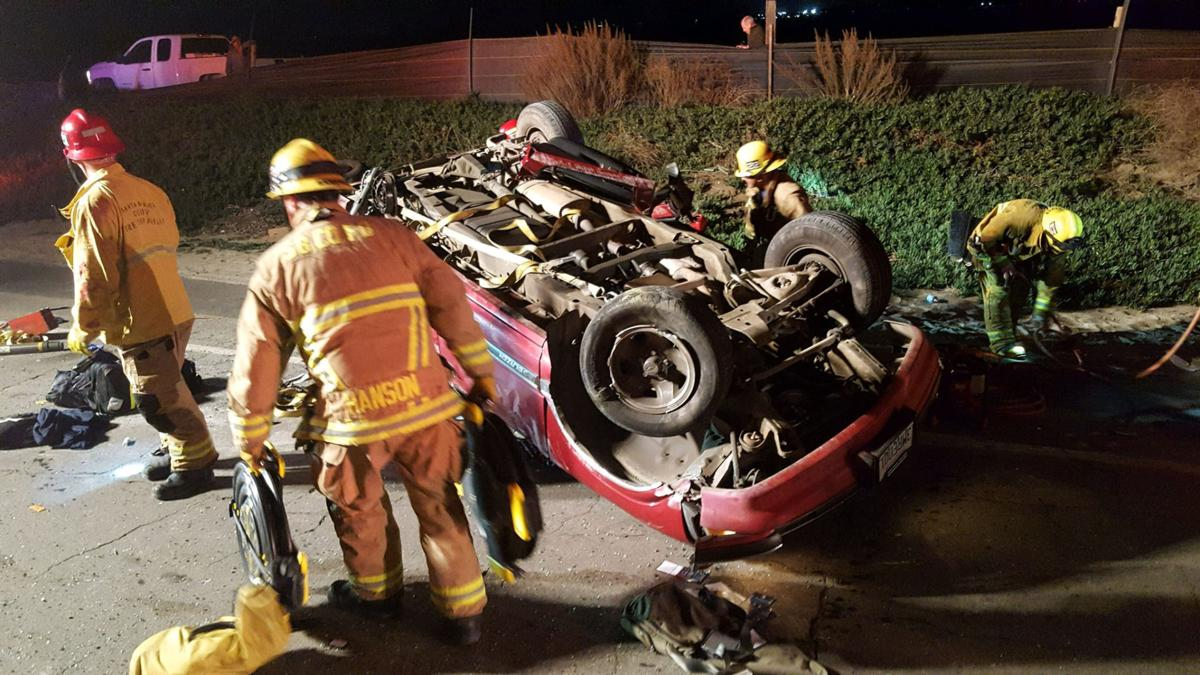 Vehicle rollover, Black Rd.