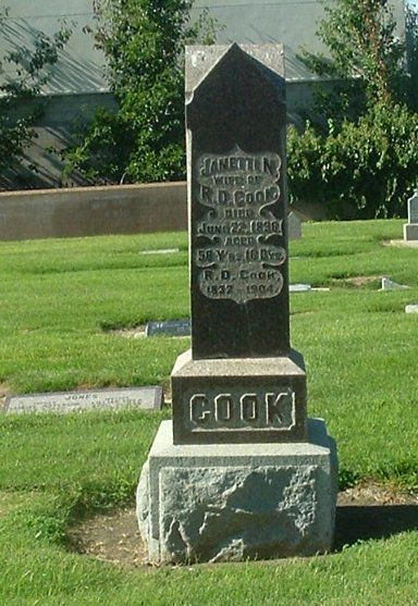 Headstone of Rudolph Cook, who arrived in the Santa Maria Valley in 1869