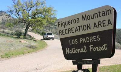 Los Padres National Forest Figueroa Mountain sign