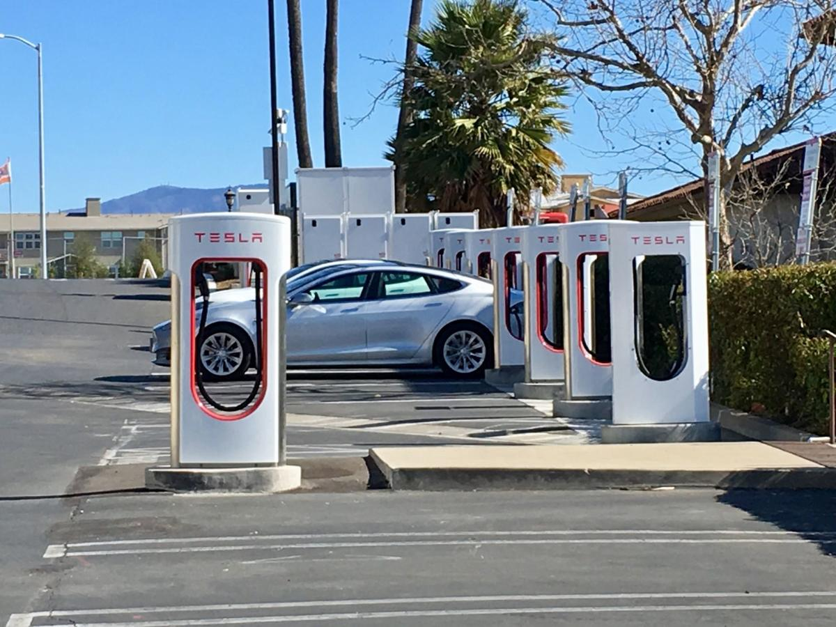 Tesla chargers at SYV Marriott