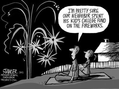 Editorial Cartoon: Illegal fireworks