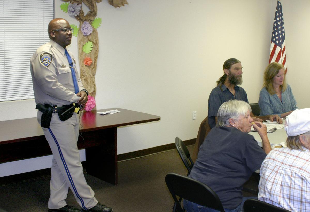 CHP Efrem Moore at Cuyama meeting