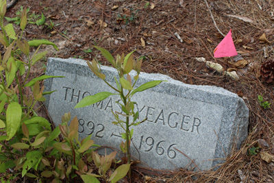 The grave of Thomas Yeager