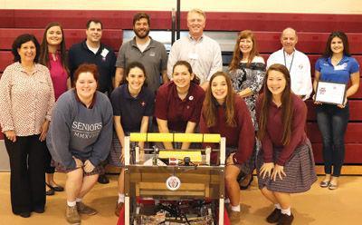 OLA Robotics team and Sponsors