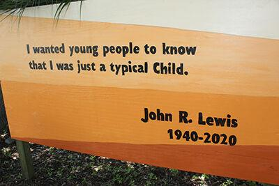 Mural at MLK Park in Bay honors Lewis with hopes to inspire children