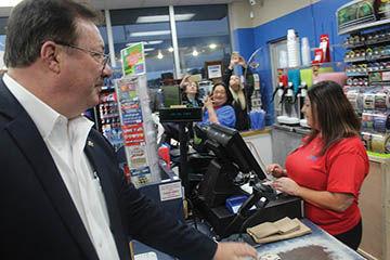 Moran buys his tickets
