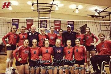 Hancock Lady Hawks volleyball