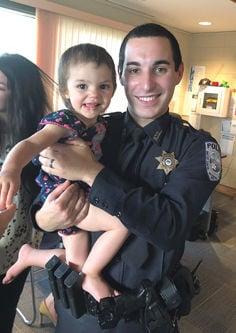 Officer Ordoyne with little Harleigh