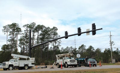 Traffic signal installation at Hwy  603 and Kiln/Waveland