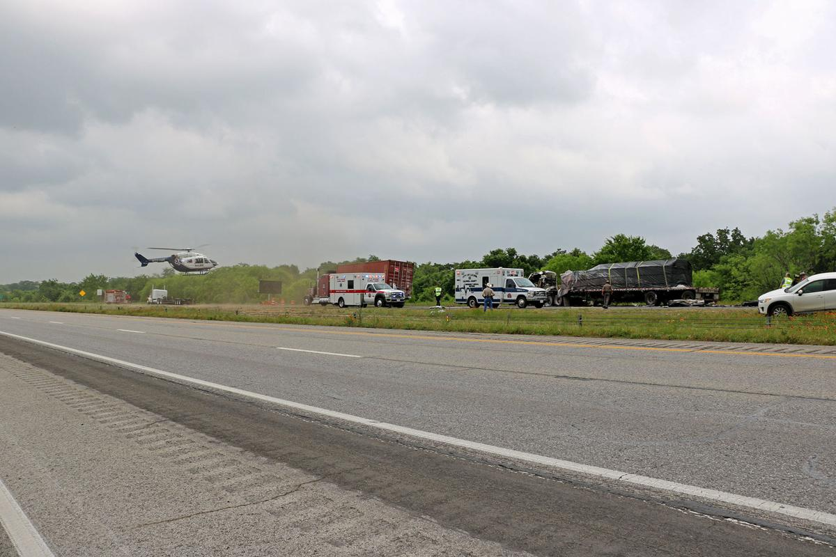 Fiery crash seriously injures 2, shutters I-10 for hours