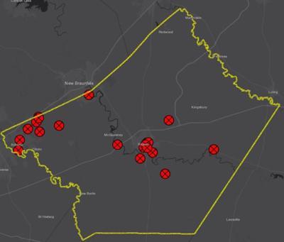 May 13 map