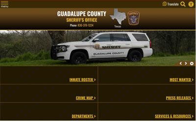 Guadalupe County Sheriff's website
