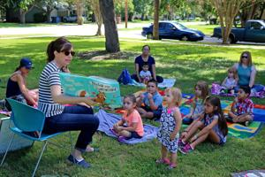 Image result for outdoor story time