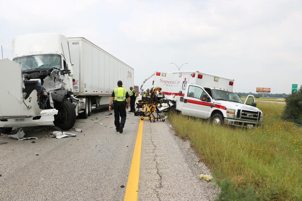 Image result for free pictures ambulance at truck wreck scene
