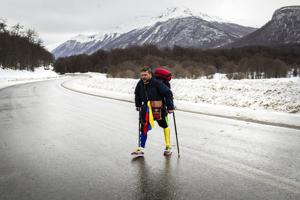Venezuelan man makes 'one-legged' trek across South America