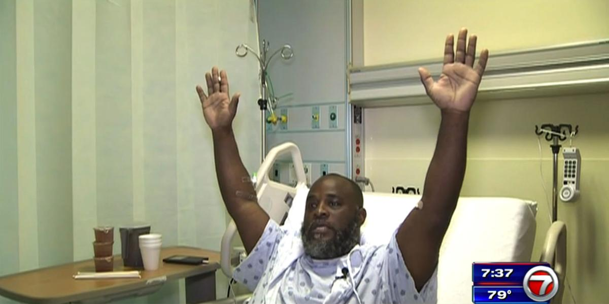 Black therapist says police shot him with his hands raised