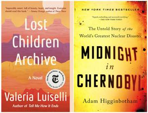 "<p>This combination of photos shows cover images for ""Lost Children Archive"" by Valeria Luiselli, left, and ""Midnight in Chernobyl: The Untold Story of the World's Greatest Nuclear Disaster"" by Adam Higginbotham, both winners of the Andrew Carnegie Medal, a $5,000 prize presented by the American Library Association. (Knopf, left,/Simon &amp; Schuster via AP)</p>"