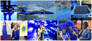 "<p>This combination of photos shows, top row from left, Blue light projected during the opening ceremony of the ISU World Championships Speed Skating Sprint in the Netherlands, on Feb. 23, 2019, U.S. Navy Blue Angel flying over Sausalito, Calif., on Oct. 10, 2019, Police firing blue-colored water at protestors in Hong Kong on Aug. 31, 2019, a tray of wild blueberries at the Coastal Blueberry Service in Union, Maine on Aug. 24, 2018, bottom row from left, actress-writer Tina Fey wearing a blue gown at the Oscars on Feb. 24, 2019, Swedish youth climate activist Greta Thunberg, wearing a blue sweatshirt, during a protest outside the White House in Washington on Sept. 13, 2019, H.E.R. performing under blue lights at the Coachella Music &amp; Arts Festival in Indio, Calif. on April 14, 2019, Duke fans wearing blue wigs before an NCAA college basketball game against Florida State in Tallahassee, Fla., on Jan. 12, 2019 and ""Today"" show co-host Al Roker wearing blue eye glasses on the set in New York on April 5, 2019. The Pantone Color Institute has named Classic Blue as its color of the year for 2020. (AP Photo)</p>"