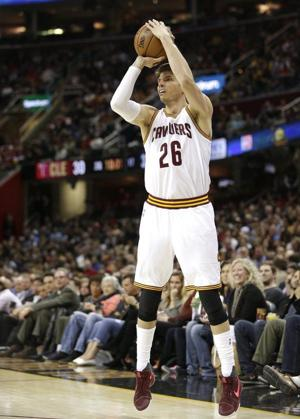 On target: Korver has the perfect shot as Cavs aim for title