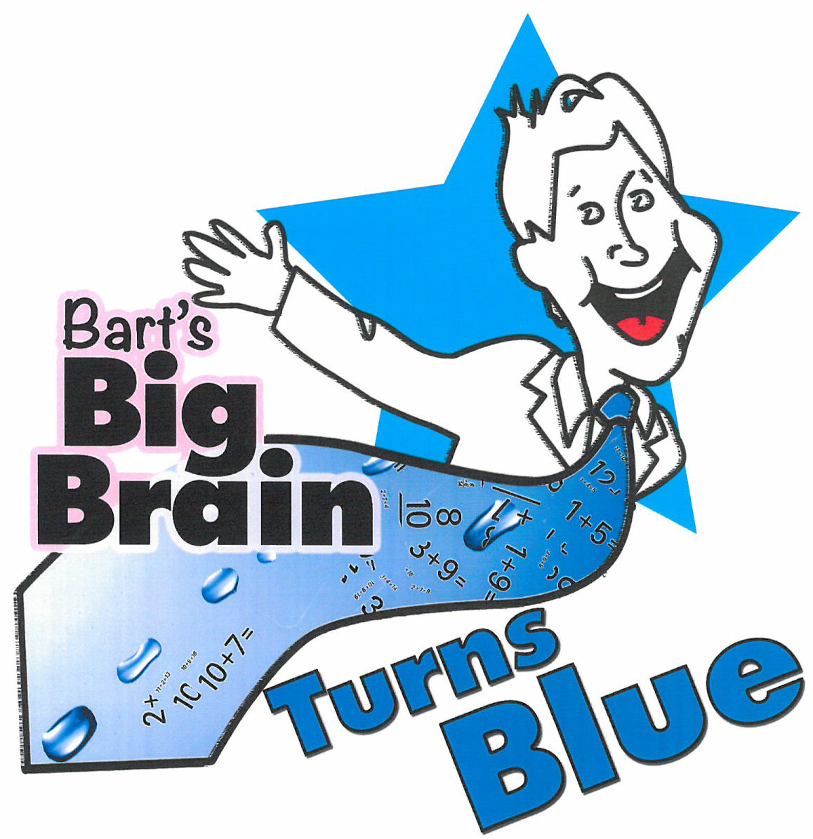 Bart's Big Brain Turns Blue