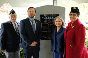 VIDEO: Byers has name inscribed on Medal of Honor monument