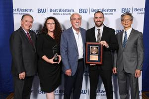 """<p>Pictured, from left, Best Western Hotels Chairman of the Board, Anthony Klok; BW Falcon Plaza Front Desk Manager, Nichole GreggDenning; BW Falcon Plaza Owner, David Bishop; BW Falcon Plaza General Manager, Todd McGee; and Best Western Hotels CEO, David Kong</p><div id=""""elementBlock_Cutline"""" class=""""storyElementSection"""" style=""""position: relative; padding: 0px 5px 5px; border: 1px dotted #777777; margin-bottom: 10px; overflow: hidden;""""><div id=""""element_Cutline1Wrapper"""" class=""""elemWrapper"""" style=""""position: relative; margin-top: 5px;""""><div id=""""element_Cutline1"""" class=""""rtEditor elementEditor"""" style=""""width: auto; clear: both; min-width: 96%; min-height: 100px; font-size: 14.3px; overflow-x: hidden; background: #eeeeee; padding: 2px; border: 1px solid #999999; user-select: text; overflow-y: auto !important; margin-bottom: 0px; height: 144px;"""" title=""""(double-click to edit)""""><p style=""""margin-top: 0px; margin-bottom: 0.5em;"""">TheBestWesternFalconPlazainBowlingGreenwasrecognizedwiththebrand'shighesthonor.</p></div><div id=""""element_Cutline1_FitInfo"""" class=""""fitElem"""" style=""""position: relative; float: right; text-align: center; font-size: 11.7px; width: 212.25px; margin: 0px; padding: 0px;""""></div><div id=""""element_Cutline1_CreateModInfo"""" class=""""createModTimesElem"""" style=""""width: 509.391px; margin-top: 0px; font-size: 11.7px; color: #90989f; white-space: nowrap; overflow-x: hidden;"""">created on Friday 12/6/2019 at 1:43:44 pm by Deborah Rogers</div></div></div><div id=""""elementBlock_Headline"""" class=""""storyElementSection"""" style=""""position: relative; padding: 0px 5px 5px; border: 1px dotted #777777; margin-bottom: 10px; overflow: hidden;""""><div id=""""element_Headline1Wrapper"""" class=""""elemWrapper"""" style=""""position: relative; margin-top: 5px;""""><label class=""""desc descPadded placed"""" style=""""display: inline; line-height: 18.525px; padding: 1px 2px; border: 2px solid #00ab00; color: #444444; font-size: 12.35px; font-weight: bold; margin-top: 3px; cursor: help; font-family: 'Lucida Grande', Tahoma, Ari"""