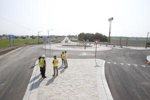 VIDEO: Wooster Street bridge opens with two new roundabouts
