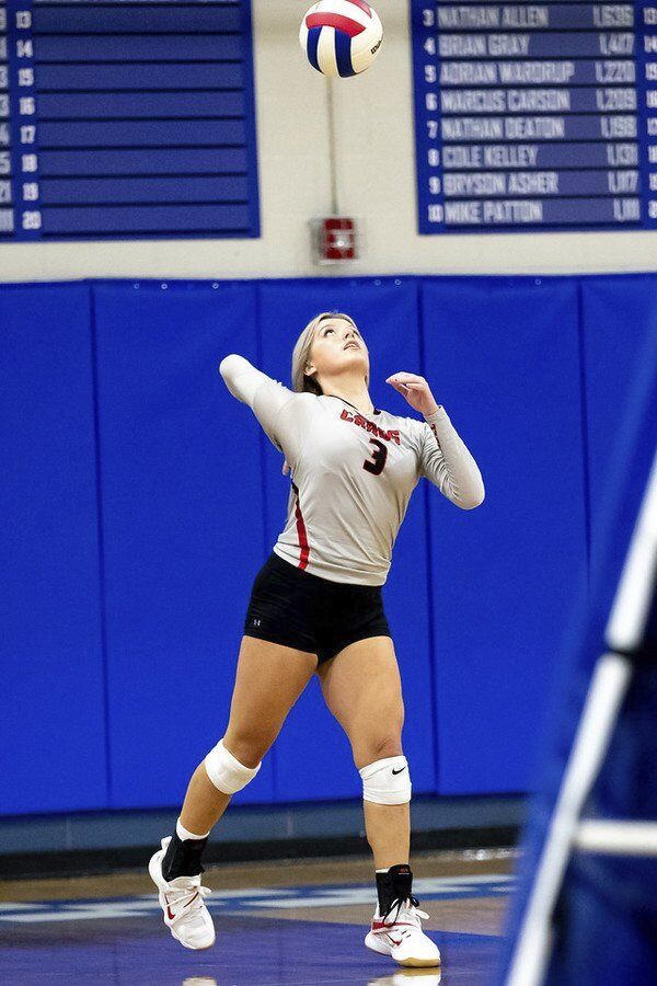 Lady Cardinals cruise past North Laurel in three sets