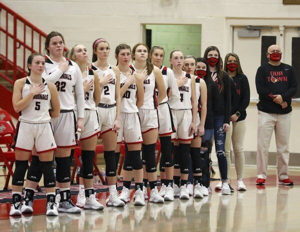 PLAYING THE WAITING GAME: <span>Chris Souder's South Laurel Lady Cardinals anxiously await getting back on court</span>
