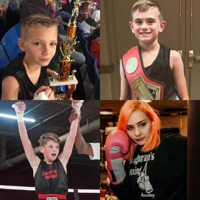 READY TO REPRESENT:<span>Preston Scott, Jason Hoskins, Treyton Byerly, and Kinnedy Hundley will travel to Shreveport, La. to participate in the USA National Championship in December</span>