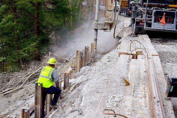 Work underway to repair Hazel Patch Road slide